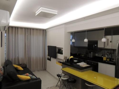 Apartamento Com 1 Dormitório À Venda, 51 M² Por R$ 265.000,00 - Itararé - São Vicente/sp - Ap5382