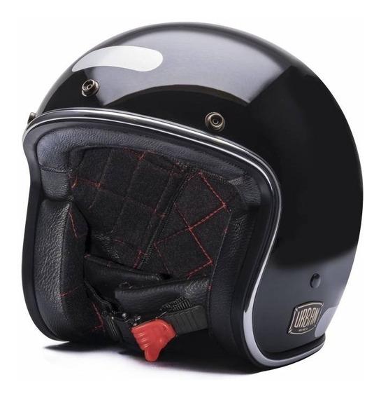 Capacete Aberto Urban Helmets Preto Liso Blackout Custom
