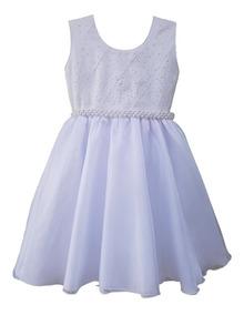 Vestido Infantil Festa Luxo Turma Da Mônica 1 Ao 16 E Tiara