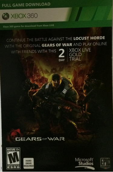 Gears Of War - Download (descrito Na Foto Real) - Xbox 360
