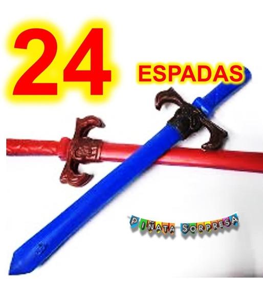 24 Espada Niño Juguete Piñata Bolo Regalo Cumple Sable Fiest