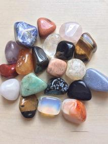 Kit Com 20 Pedras Roladas Naturais Variadas
