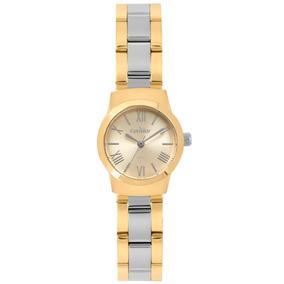Relógio Condor Feminino Dourado E Prata Bicolor Original Nfe