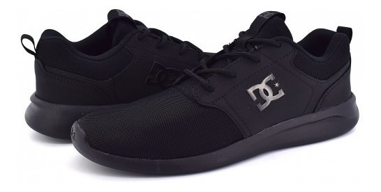 Tenis Dc Shoes Adys 700136 Blk Black Midway Sn Mx 25-31 Cab