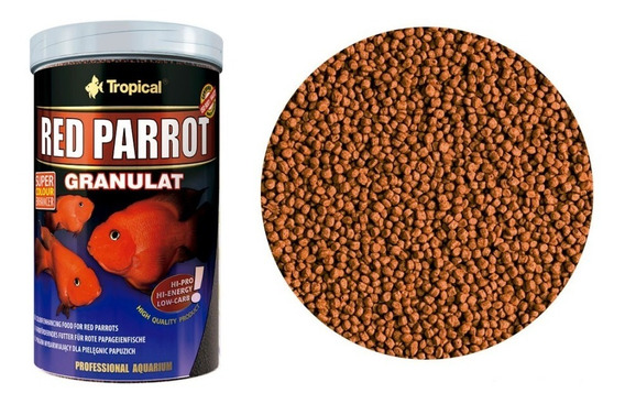 Ração Tropical Red Parrot Granulat 400g Para Peixes Papagaio