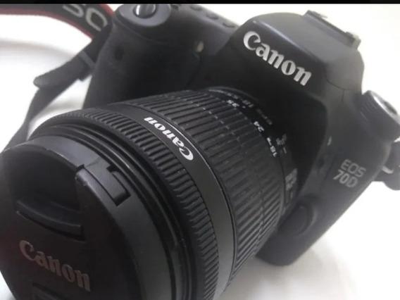 Câmera Dslr Canon 70d Lente 18 135 Stm+ascessorios Originais