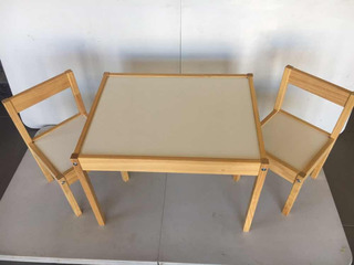 Set Mesa Con 2 Sillas Infantil Marca Ikea