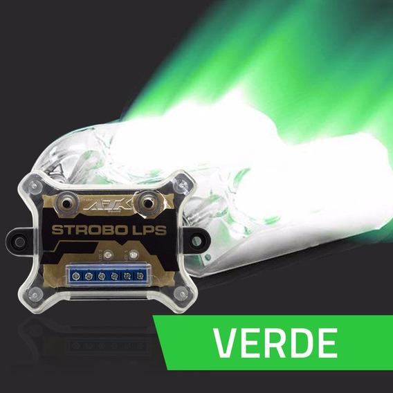 Kit Estrobo Ajk Sound Lps Vittro Verde - 9 Efeitos