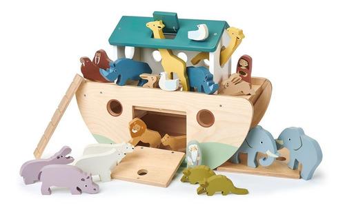 Imagen 1 de 6 de Juguete Para Niños Arca De Noé + Animales De Madera Febo