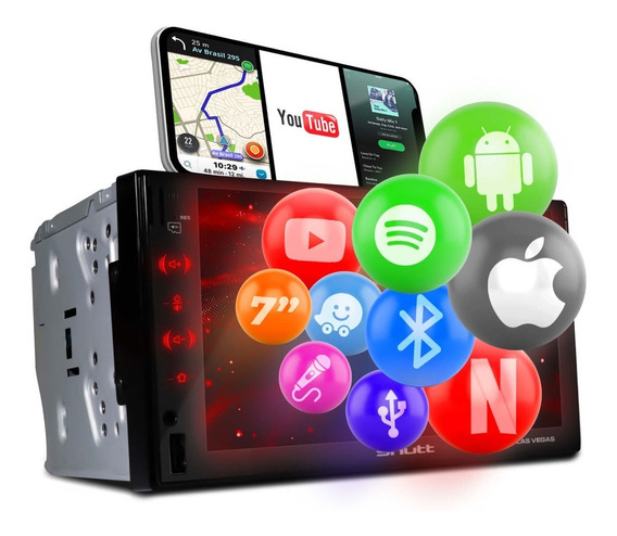 Mp3 Mp4 Mp5 Player Shutt Las Vegas 2 Din Bt Usb Android Ios