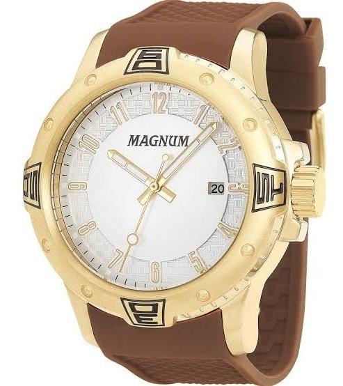 Relógio Dourado Masculino Magnum Original Ma34414m.