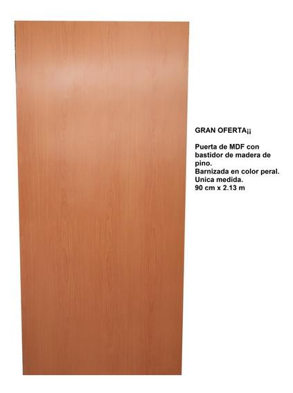 Puerta De Tambor De Mdf Color Peral