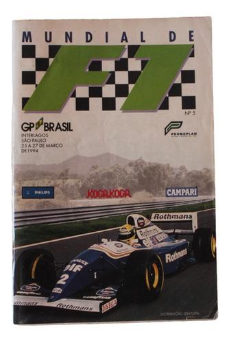 Revista Do Gp Brasil De Fórmula 1 De 1994