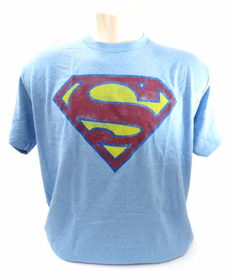 Camisa Super Man Super Homem Azul Tamanho G