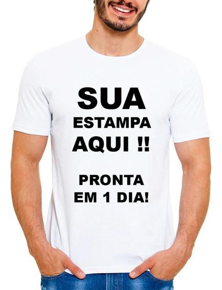 Camiseta Personalizada Unissex Com Sua Estampa Foto Imagem