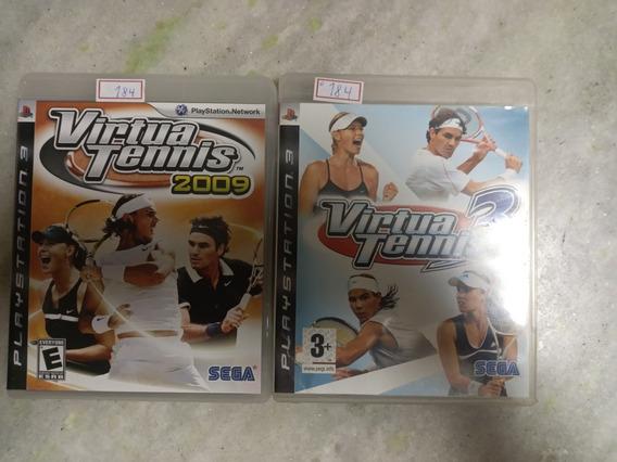 Jogo Sony Ps3 Combo Virtua Tennis Original Lote184