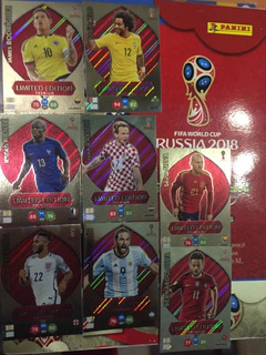Set 8 Cards Adrenalyn Premium Copa 2018 Limiteds Limited Lot