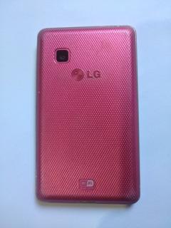 Smartphone Lg T375 Rosa Funciona Tudo Pronto Para Uso