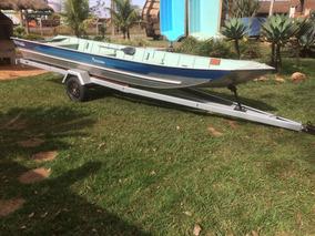 Barco Rebitado 6,00m, Motor Popa 30hp Mercury, Carreta