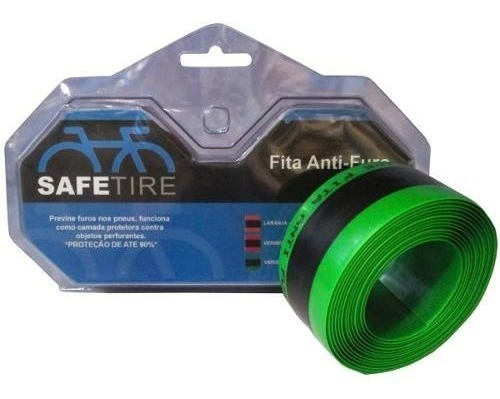Fita Anti-furo Safetire 35mm Verde P/ Aro 26 27,5 29 O Par