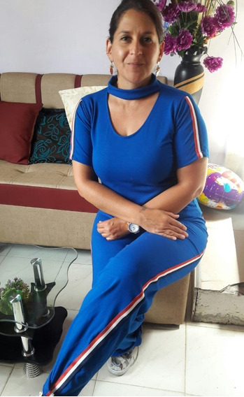 Conjunto De Blusa Y Pantalon Azul-negro- Mujer Dif Color