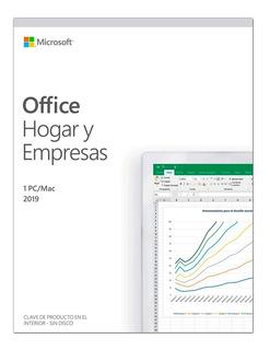 Microsoft Office Hogar Y Empresas 2019 Español Pc/mac