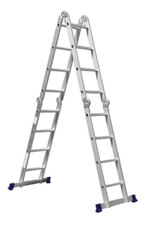 Escada Multifuncional 4x4 Em Alumínio Plataforma 5134 Mor
