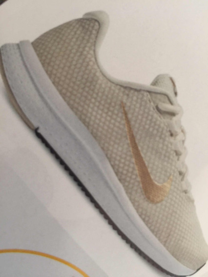 Tenis Nike Wmns Runallday 265-2382 Tallas 22 Al 27 Beige