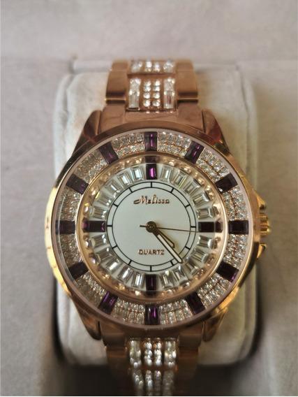Relógio Feminino Japan Quartz - Cristal Swarovski - Swk005