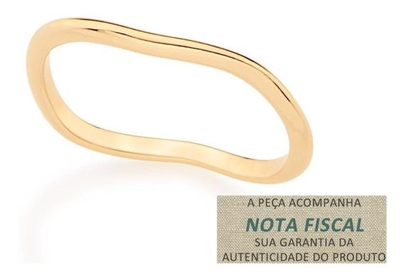Anel Fino Ondulado F. Ouro 18k Rommanel Feminino 512259