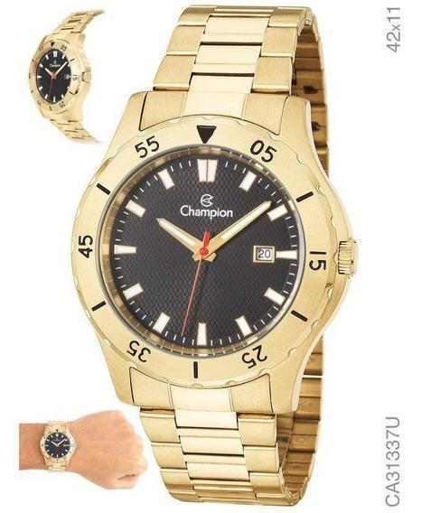 Relógio Masculino Champion Dourado Prova D´água Ca31337u