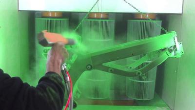Aplicación De Pinturai En Polvo Electrostática.