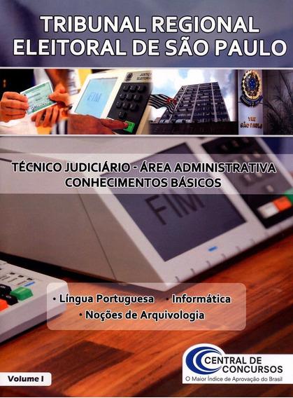Tre De São Paulo - Vol. 1 - Técnico Judiciário - Área Ad