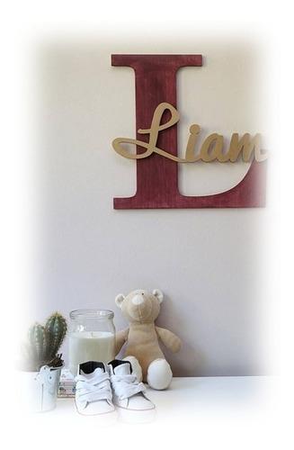 Imagen 1 de 3 de Letras, Nombres, Logos, Recuerdos, En Madera Y Mdf, De 50cm