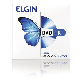Dvd-r 4,7 Gb 120 Min Envelopado Elgin 11535