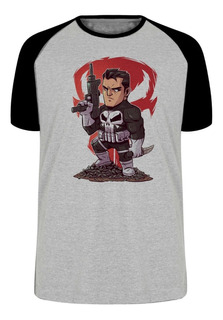 Camiseta Luxo Justiceiro Marvel Punisher Arma Pistola Fbi