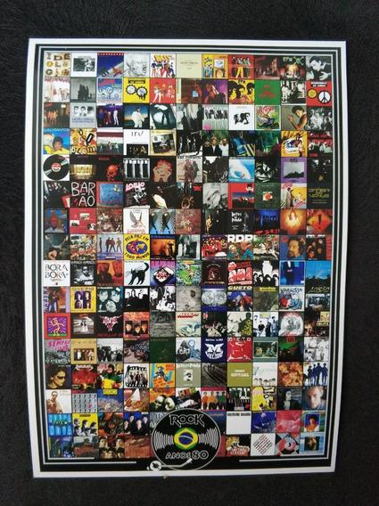 Poster Rock Brasil Anos 80 Rock Nacional Ira Rpm Lobão Blitz