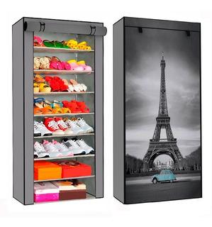 Zapatera Organizador 8 Repisas Torre Eiffel 24 Zapatos Hogar