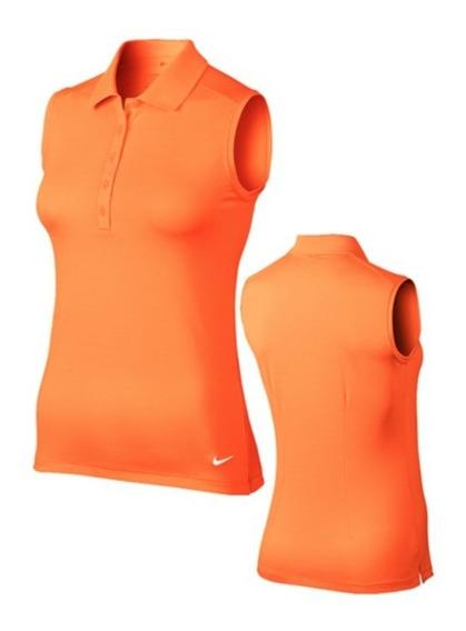 Chomba Musculosa Nike Dama Naranja Golflab