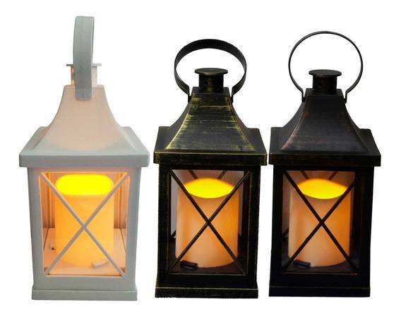 1 Lanterna Luminaria Marroquina Decoraçao Lampiao Vela Led T
