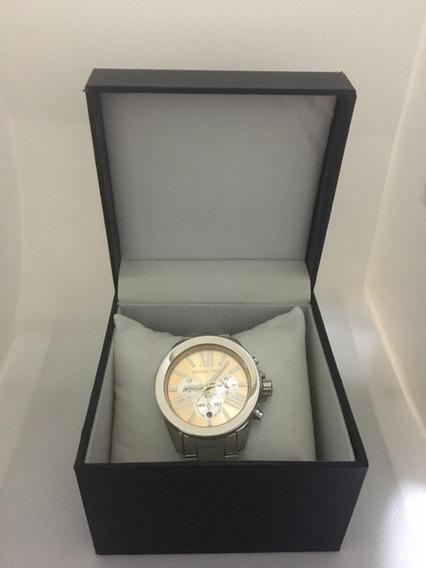 Relógio Michael Kors Mk5837 Wren Prata Rose Caixa E Manual.