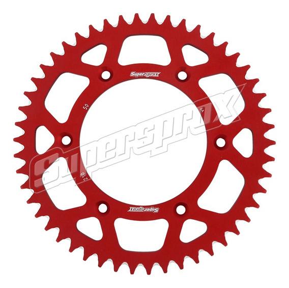Coroa Alumínio Superprox Vermelha Honda Crf 230|250|450 Z50