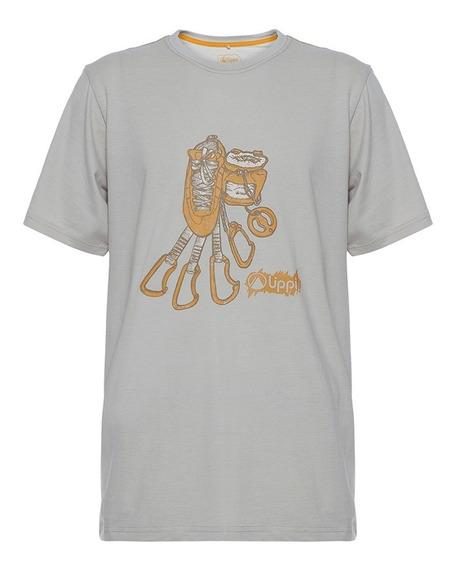 Polera Hombre Climb Cotton T-shirt Beige Lippi