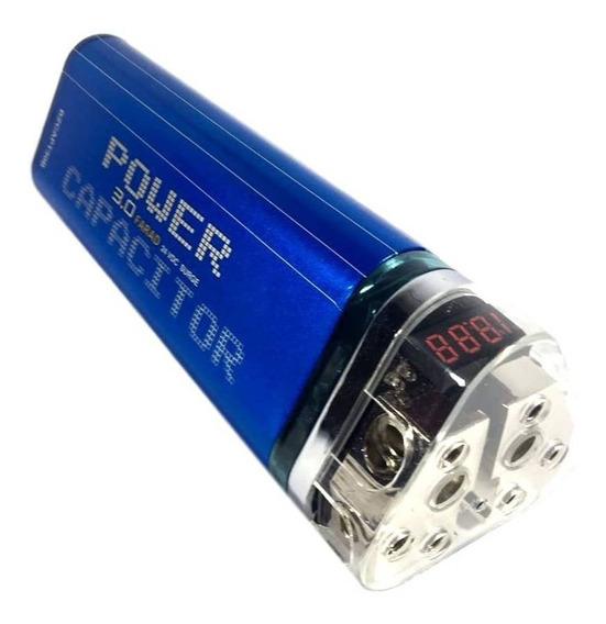 Mega Capacitor Blitz 3.0 Farad 3f Até 4000watt Rms Digital