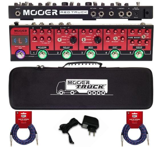 Pedaleira Profissional Multiefeitos Mooer Red Truck Guitarra