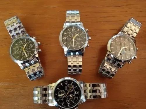 Relógio Masculino Grande Prata