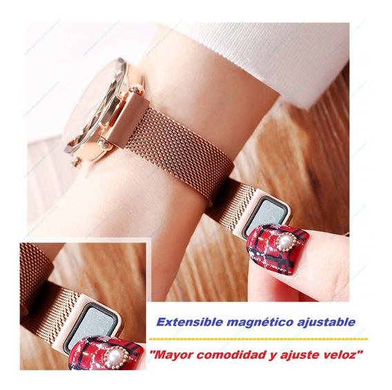 Reloj De Lujo Con Correa Magnética Mujer