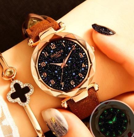 Kit 10 Relógios De Pulso Feminino Céu Estrelado Quartzo 12x