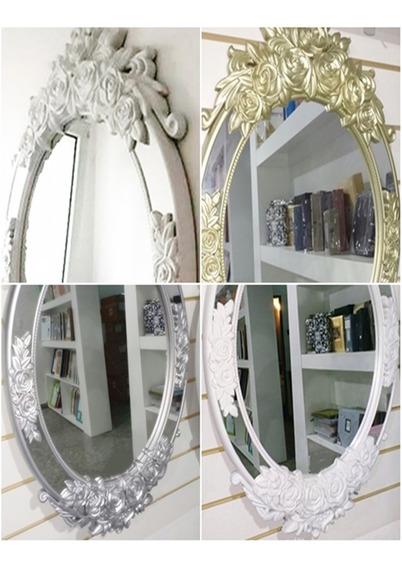 Espejos 73 X 49 Oval Barroco Rococó Antiguo Tres Colores