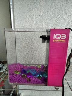 Acuario Iq3 Acrilico Rosa Con Bomba, Piedras Y Filtro